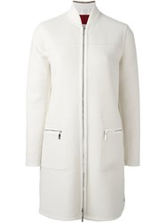Moncler Gamme Rouge Layered Padded Coat White