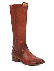 Frye Melissa Knee High Leather Boots Cognac