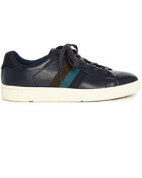 Paul Smith Navy Lawn Leather Sneakers Blue
