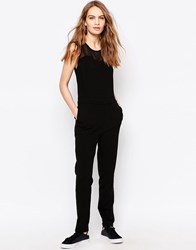 Just Female Own Mesh Panel Jumpsuit Black