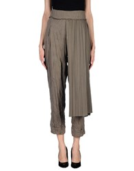 Oblique Trousers Casual Trousers Women Khaki