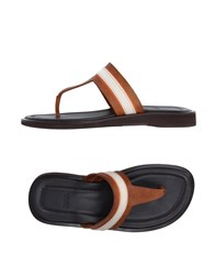 Boss Black Footwear Thong Sandals Men Camel