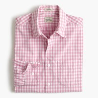 J.Crew Secret Wash Shirt In Pink Gingham Classic Pink