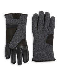Ugg Faux Fur Lined Tech Gloves Charcoal
