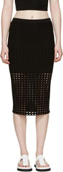 Alexander Wang Black Circular Hole Skirt