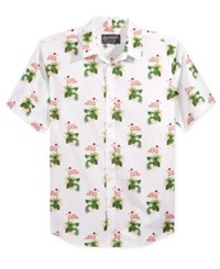 American Rag Men's Flamingo Graphic Print Shirt Only At Macy's Bright Whi