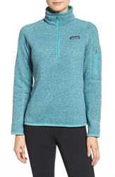 Patagonia Women's 'Better Sweater' Zip Pullover Mogul Blue
