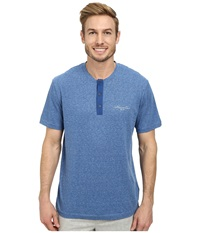 Kenneth Cole Reaction Lounge Short Sleeve Henley True Blue Heather Men's Pajama