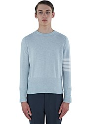 Thom Browne 4 Bar Classic Crew Neck Cashmere Sweater Grey
