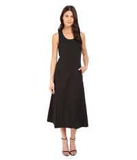 Theory Vlorine Crunch Wash Dress Black Women's Dress