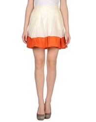 Husky Knee Length Skirts Ivory