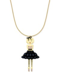Kate Spade New York Gold Tone Stone And Enamel Ballerina Pendant Necklace