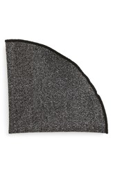 Alexander Olch Men's 'Gable' Herringbone Wool Pocket Round Grey