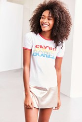 Truly Madly Deeply Snow Bored Ringer Tee Ivory