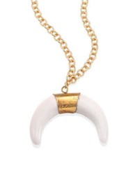 Jonesy Wood Noelle Tibetan White Horn Pendant Necklace No Color