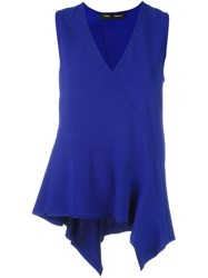 Proenza Schouler Draped Tank Top Blue