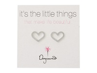Dogeared Little Things Open Heart Studs Silver Earring