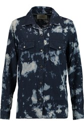 Current Elliott The Perfect Tie Dye Chambray Shirt Midnight Blue