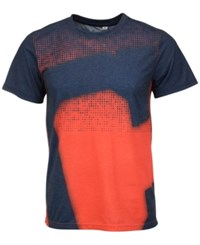 Forever Collectibles Men's Cleveland Indians Big Logo Sublimated T Shirt Navy Red