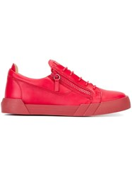 Giuseppe Zanotti Design Zip Detail Low Sneakers Red