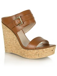 Daniel New Orleans Two Bar Wedge Mules Tan