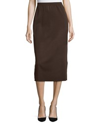 Ming Wang Pencil Skirt With Side Slit Cof