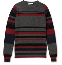 J.W.Anderson Striped Merino Wool Sweater Gray