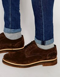 Base London Lincoln Suede Derby Shoes Brown