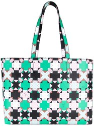 Emilio Pucci Printed Shopper Tote Black