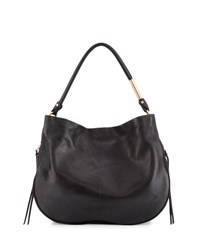 Foley Corinna Kate Leather Hobo Bag Black