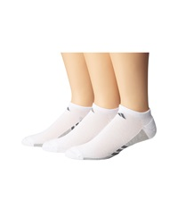 Adidas Climacool Superlite 3 Pair No Show Sock White Light Onix Medium Lead Men's No Show Socks Shoes