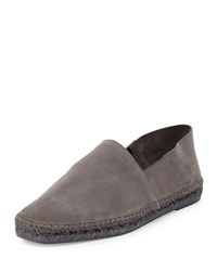 Tom Ford Suede Slip On Espadrille Grey