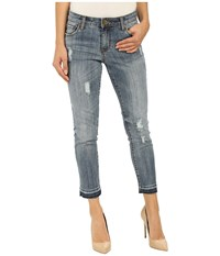 Kut From The Kloth Reese Ankle Straight Leg Jeans In Fantastic W Medium Base Wash Fantastic Medium Base Wash Women's Jeans Blue