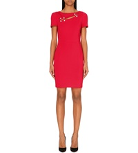 Versus Safety Pin Jersey Dress Red
