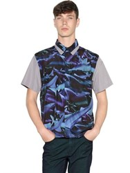 Tothem Shark Printed Techno Satin Shirt
