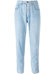 Moschino Vintage High Waisted Jeans Blue