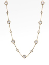 Adriana Orsini Stationed Bezel Set Necklace No Color