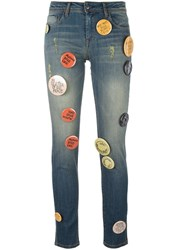Each X Other Pin Buttons Embellished Jeans Blue