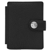 Reiss Cash Suede Panel Card Holder Black