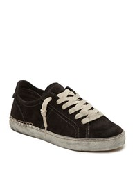 Dolce Vita Zalen Suede Lace Up Sneakers Grey