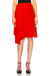 3.1 Phillip Lim Cascading Ruffle And Fringe Skirt In Red