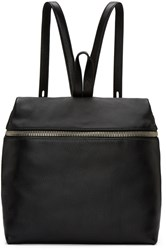 Kara Black Leather Backpack