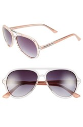 Bcbgmaxazria Women's Bcbg 57Mm Aviator Sunglasses Blush