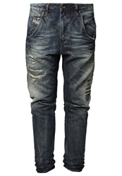 Diesel Fayza Relaxed Fit Jeans 0831G Destroyed Denim