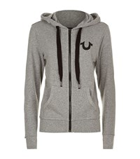 True Religion Logo Hoodie Female Light Grey