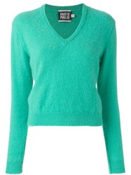 Fausto Puglisi V Neck Jumper Green
