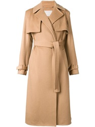 Jason Wu Belted Long Trench Coat Nude And Neutrals