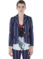 Altuzarra Dandridge Striped Cropped Blazer Navy