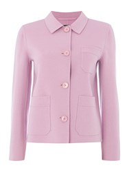 Max Mara Rosano Long Sleeve Short Length Wool Jacket Lilac