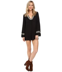 Amuse Society Lido Romper Black Women's Jumpsuit And Rompers One Piece